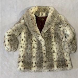 Vintage American Signature Faux Fur Coat Size 14